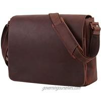 Leathario Men's Briefcase Leather Shoulder Bag Shoulder Bag Laptop Bag School Bag Document Bag Business Bag Messenger Bag