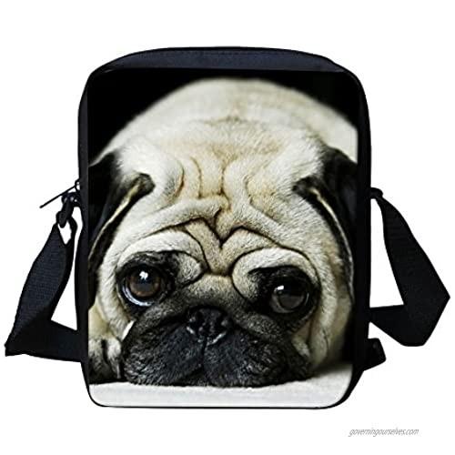 Messenger Bag for Preschool Children's Shoulder Handbags Crossbody Cute Dog Print