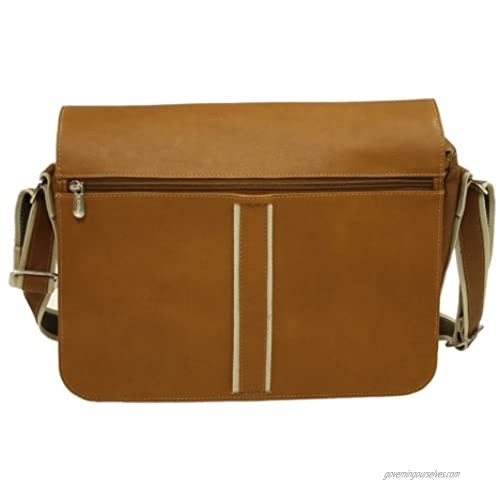 Piel Leather Four-Section Urban Messenger  Saddle  One Size