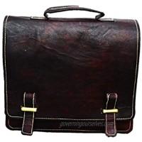 Satchel and Fable Leather Messenger Cross Body Shoulder Bag Dark Brown 11 Inch