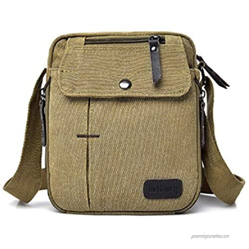 Small Shoulder Bags Canvas Travel Purse Casual Messenger Bag Mens Womens Mini Crossbody Purse