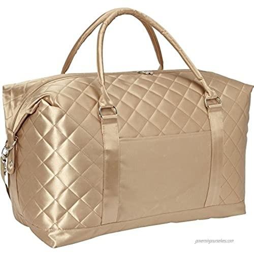 "Bellino Savvy Weekend 19.5""L Duffle Bag  Gold"