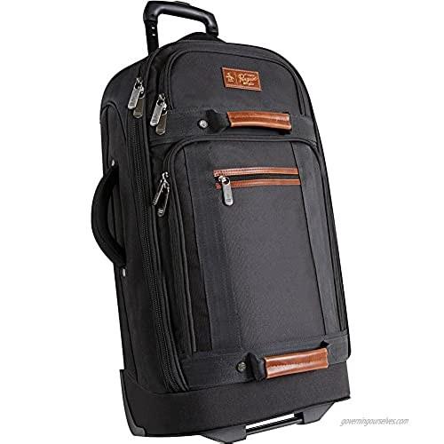 "ORIGINAL PENGUIN Luggage 30"" Large Rolling Duffel Bag  Black  One Size"