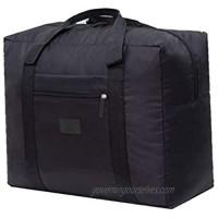 PAXLamb Travel Luggage Duffle Tote Bag Lightweight Waterproof Foldable Storage Carry Bag (Black)