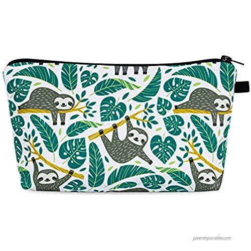 Small Makeup Bags for Women  Waterproof Cosmetic Bag with Zipper Makeup Bag Travel Toiletry Bag Accessories Organizer Gifts for Women Teen Girls (Sloth)