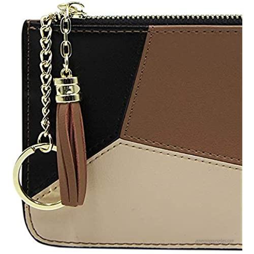 Amamcy Cute Leatger Passport Holder Travel Wallet Ticket Holder Document Organizer Tote Clutch Purse Handbag for Women
