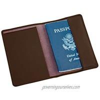 Dacasso Leather Passport Holder  Chocolate Brown (A3442)