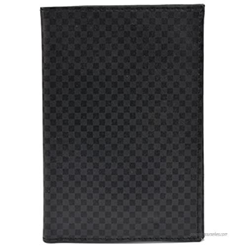 Dresz Cover Check Passport Wallet  16 cm  Black And Grey