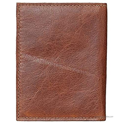 Genuine Leather Passport Wallet/Distressed Brown Leather/Passport Cover/Made In USA