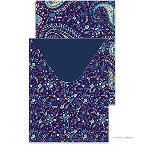 Punch Studio Passport Cover Blue Paisley (43890)