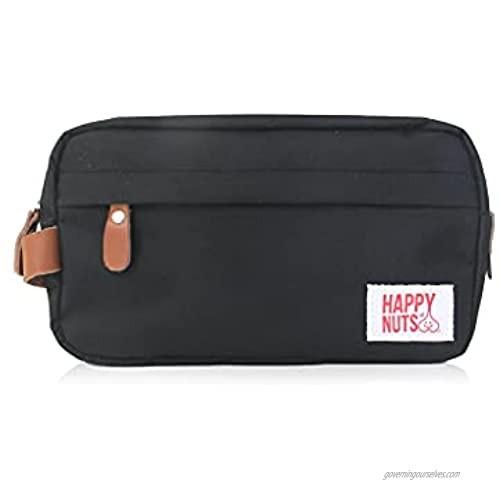 Happy Nuts Men's Toiletry Bag Canvas Organizer Bag TSA Approved (Black)