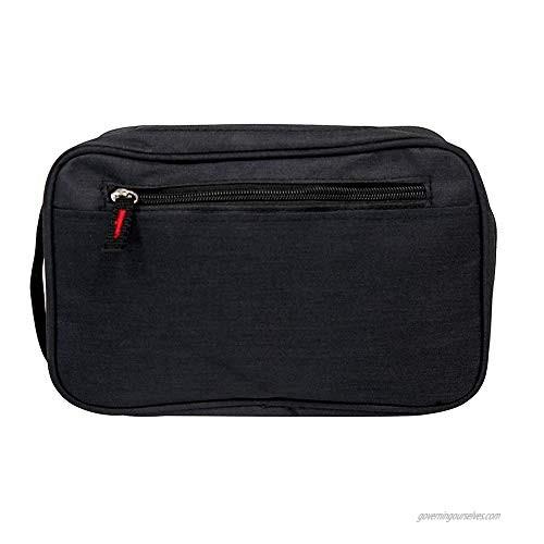 Men's Travel Toiletry Bag Shaving Dopp Kits Bathroom Cosmetic Makeup Organizer Unisex Black