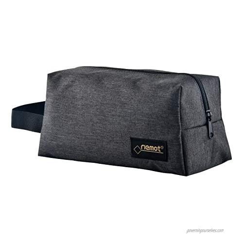 riemot Womens Makeup Bag Mens Travel Toiletry Bag Shaving Dopp Kit Organizer Comestic Pouch Grey