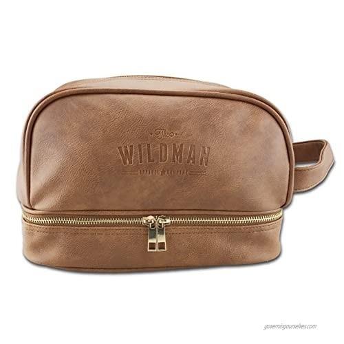 Toiletry Travel Bag Dopp Kit for Men  Shaving Bag  Travel Organiser with Hidden Pocket for Valuables (brown)