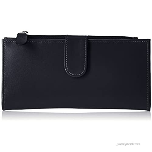 Claire Chase Women's Slimline Wallet  Black Patent  One Size