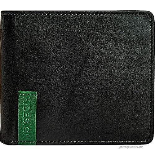 HIDESIGN Dylan 04 Leather Slim Bifold Wallet  Black