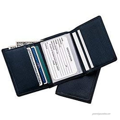 Royce Leather Men's Credit Card Trifold Wallet in Leather  Brown  One Size