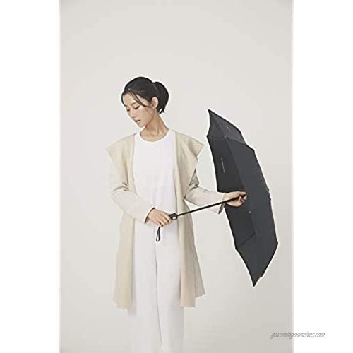 Decus Automatic Folding Umbrella Anti-UV Waterproof Sun/Rain Lightweight Auto Open & Close Unisex Men Women (Royal Black)