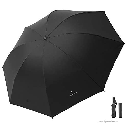 Folding Umbrellas UV Sun Umbrella Automatic Black Umbrella Folding Travel Portable Umbrella Sunscreen  Waterproof and Windproof for Women Men