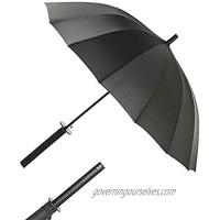 FULLSUN PARASOL Sword Handle Katana Umbrella Ninja Samurai Knife Japanese Stick Creative Umbrella with 16 Ribs