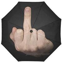 INTERESTPRINT WECE Funny Quotes Saying Windproof Compact Auto Open and Close Folding Umbrella  Shit It's Raining Automatic Foldable Travel Parasol Umbrella  Black