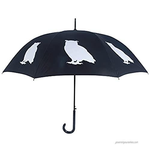 San Francisco Umbrella Co Black/White Owl Umbrella