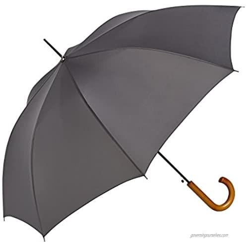 ShedRain Auto Open Traditional Stick Umbrella: Charcoal Gray