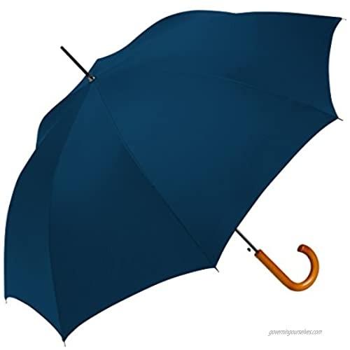 ShedRain Auto Open Traditional Stick Umbrella: Navy Blue