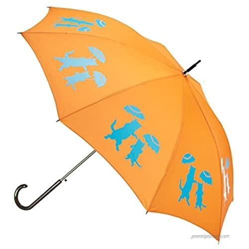 The San Francisco Umbrella Company Unisex-Adult (Luggage only) auto Open Stick rain  Orange  One_Size
