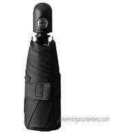 Baitaihem Mini Travel Compact Sun&Rain Umbrella Fully Automatic Pocket Umbrella with 95% UV Protection Black