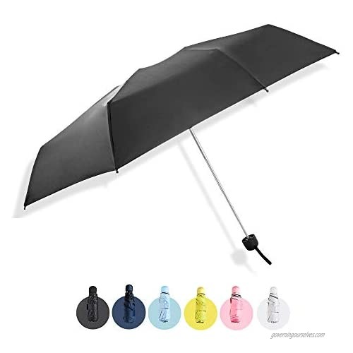 JOYMADE compact mini folding travel umbrella with water prevention case - lightweight  portable for outdoor sun and rain protection for men women and kids