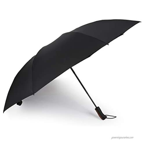 Kobold Inverted Reverse Compact Folding Auto Open/Close Umbrella Lightweight Portable and Good for Travel and Car