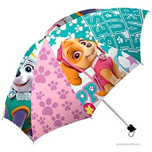 Paw Patrol Children Folding Umbrella Skye & Everest Umbrella Official Licensed