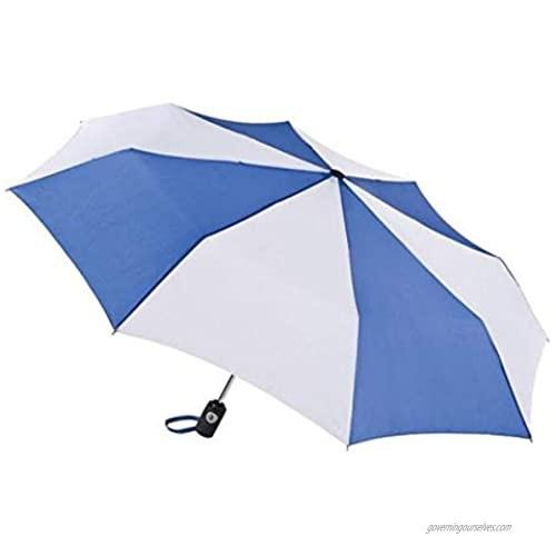 """Totes Auto Open Auto Close Umbrella ~ 43"""" Arc ~ Fits in Travel Bag  Color: Royal/White"""
