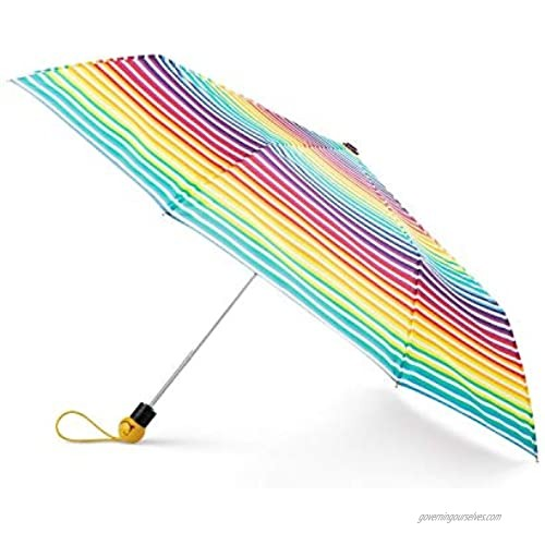 Totes Auto-Open Umbrella with Emoji Face Handle NeverWet Invisible Coating 42-inch canopy