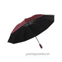 Wind proof  rain proof  UV proof folding umbrella  vehicle reverse umbrella  angel halo reflective umbrella (claret)