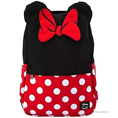 Loungefly Minnie Mouse Cosplay Square Nylon Backpack (Multi)