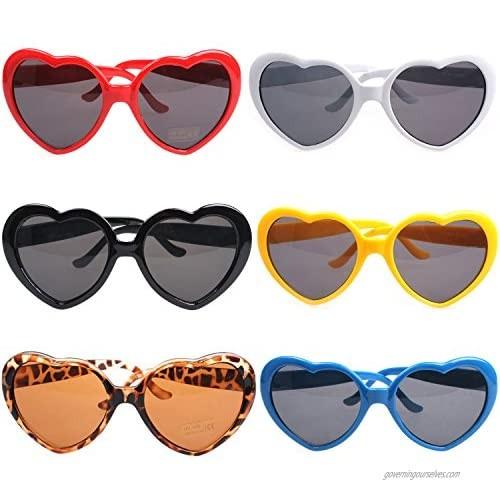 Armear Women Fashion Oversized Heart Shaped Retro Sunglasses Cute Eyewear UV400