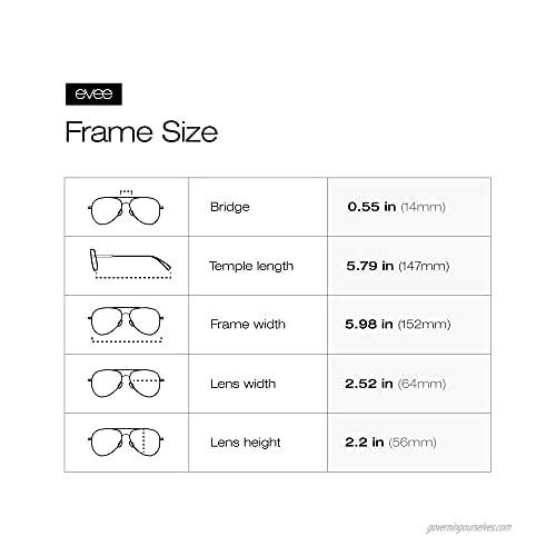 EVEE Fashionable Metal Aviator Sunglasses with Oversize Flat Reflective Mirror Lenses (GEMINI)