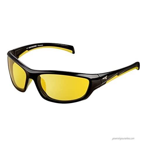 KastKing Polarized Night Vision Driving Glasses Men Women Reduce Glare and Enhance Vision in Rainy  Foggy