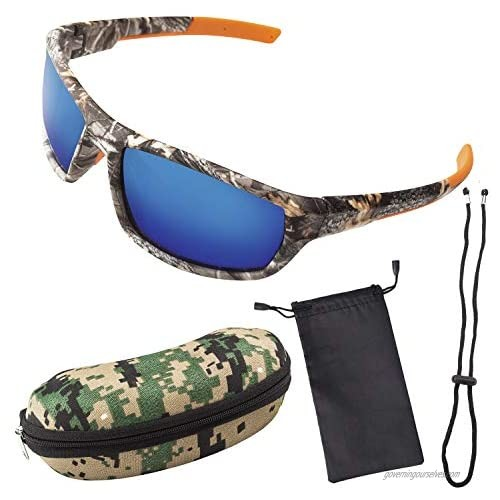Polarized Camouflage Sport Fishing Sunglasses for Men and Women - Ideal Blue S