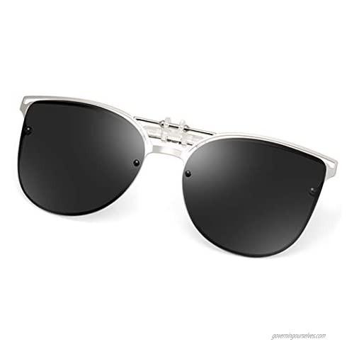 Polarized Clip-on Sunglasses Anti-Glare UV 400 Protection Cateye/Aviator Sun Glasses Clip On Prescription Glasses