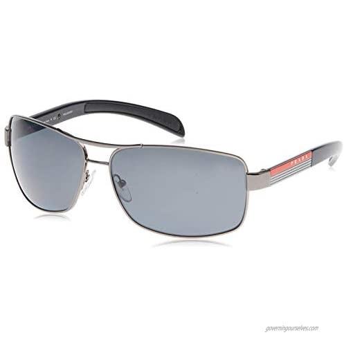 Prada Sport PS54IS Sunglasses-5AV/5Z1 Gunmetal (Polarized Gray Lens)-65mm