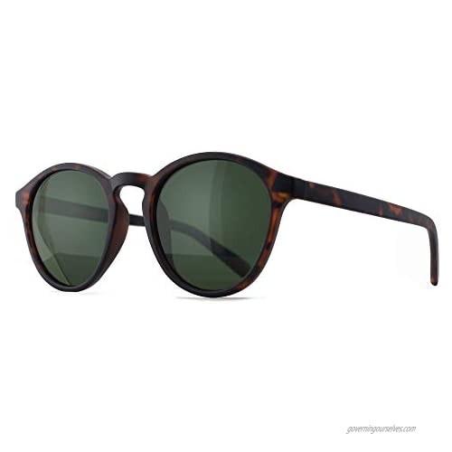 SUNGAIT Classic Vintage Round Polarized Sunglasses for Women Men Retro Style UV400