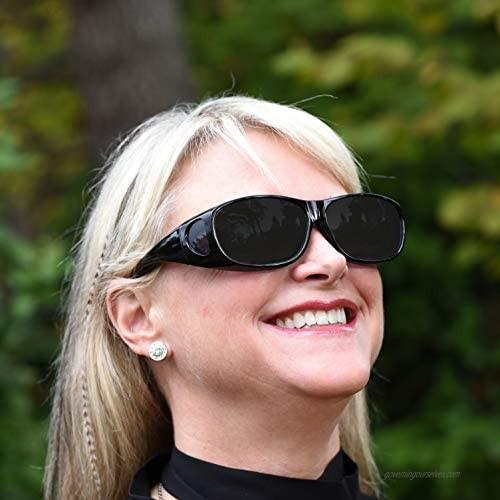 Sunny Pro Fitover Sunglasses Polarized Lens Cover Wear Over Prescription Glasses
