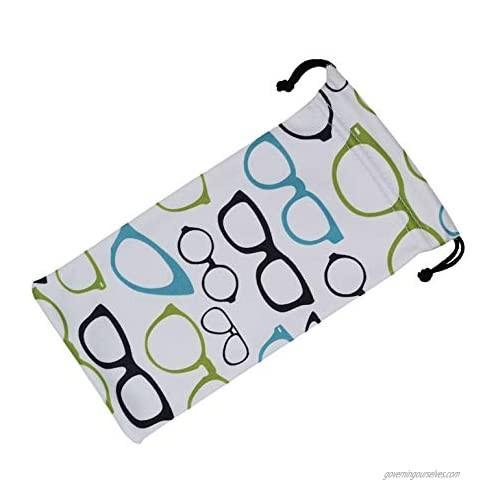 Eyeglass Pouch Drawstring  Glasses Case Soft For Women Men  Medium To Large Glasses