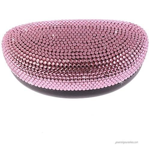 Fashion Pink Bling Crystal Sunglasses Case Cute Rhinestone Gift Reading Eyeglasses Box For Lady Girl Friends Women