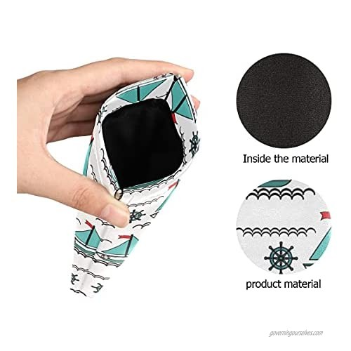 JUAMA Sunglasses Case Pouch Squeeze Top PU Leather Eyeglasses Case for Women Girl