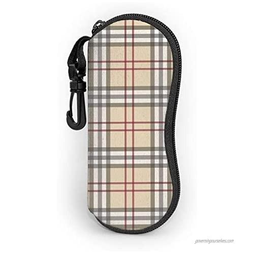 Sunglasses Soft Case Portable Ultra Light Eyeglasses Bag Multifunction Neoprene Zipper Eyeglass Case With Belt Clip