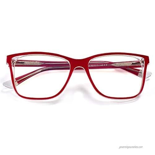 BEDO Blue Light Blocking Glasses Square Nerd Eyeglasses Frame Anti Blue Ray Computer Game Glasses